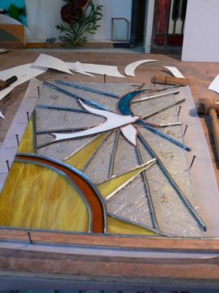 STAGE VITRAIL ETE  2010, ATELIER VITRAIL TOUCOULEUR